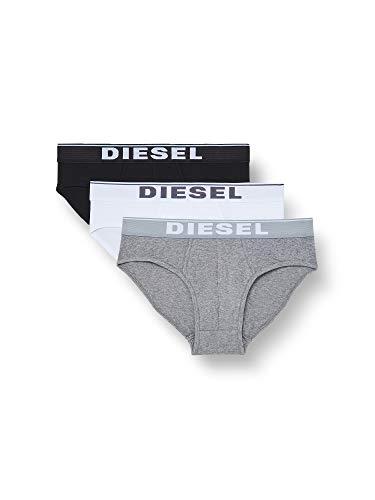 Diesel Slips UMBR-ANDRETHREEPACK Homme, MULTICOLORE (DARK GREY MELANGE/BLACK/BRIGHT WHITE E3843-0JKKB), L (Lot de 3)