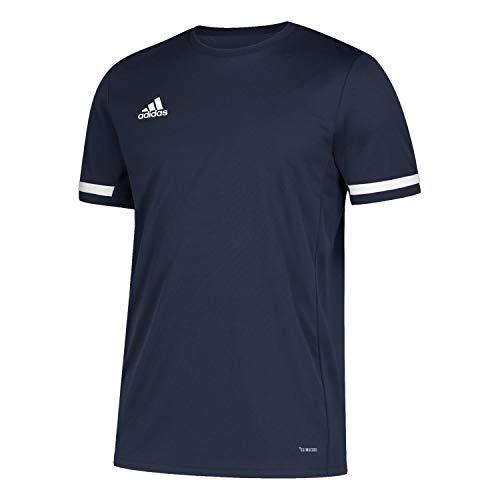 adidas Team 19 Maillot Homme, Bleu Marin/Blanc, M