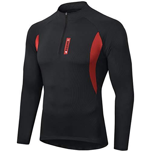 MEETWEE Maillot Cyclisme Homme, Vélo Jersey VTT Vêtements Manche Longues Séchage Respirant...