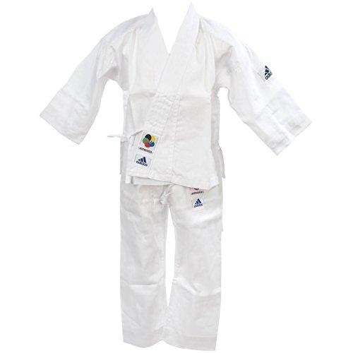 adidas - K180E - 2 en 1 pour initiation -Karaté Kimono - Mixte Enfant - Blanc - 150/160 cm