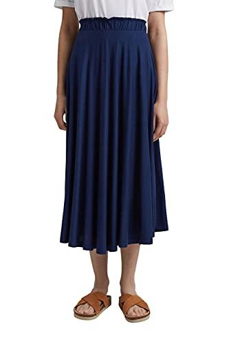 Esprit 051EE1D304 Jupe, Bleu foncé (405), XL Femme