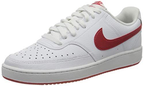 Nike Court Vision Lo, Sneaker Basse Homme, White/University Red, 45 EU prix et achat
