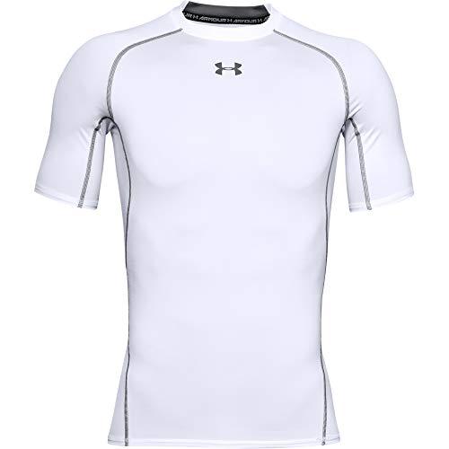 Under Armour UA HeatGear Short Sleeve, T-Shirt Homme, White / Graphite , M