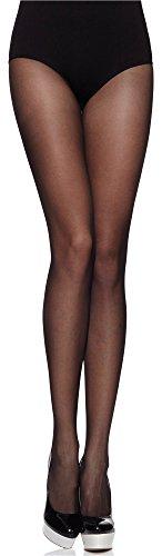 Merry Style Collant Fantaisie Fin à Motif Lingerie Femme MS 116 20 DEN (Noir, L)