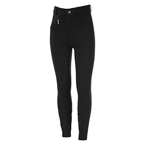 HORZE Pantalon d'équitation Active, Fond intégral Grip Silicone, Enfant, Noir, 160
