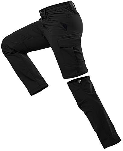 Vzteek Pantalon de randonnée convertible pour homme avec fermeture éclair - Séchage rapide -...