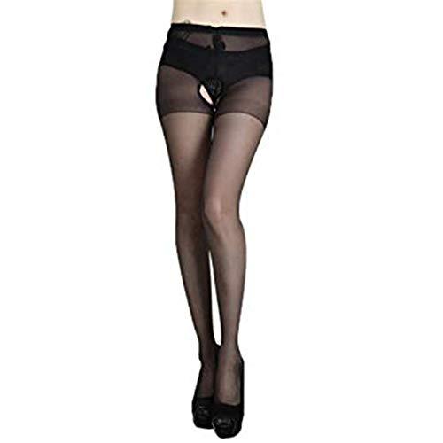 WJPT Femmes Pantalons Ouverts Bas Doux Collants Élastique Pantyhose sous-vêtements