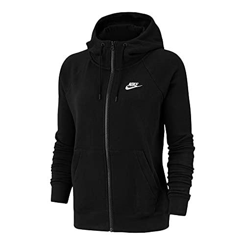 Nike W NSW ESSNTL Hoodie FZ FLC Veste Femme, Black/White, L prix et achat