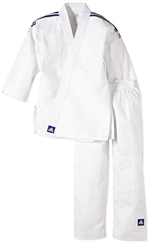 Adidas - Tenue Kimono de judo Evolution J200 T130/140- ADIJ200E - Blanc - FR : L (Taille...