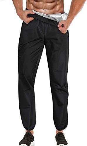 Chumian Pantalon de Sudation Homme Sauna Amincissant Minceur Pantalon Sudation Sport Fitness Legging Homme(Noir, M)