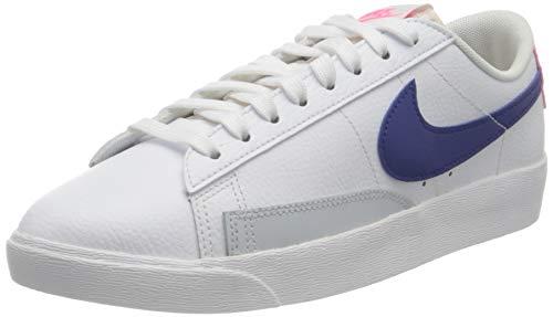 Nike Blazer Low, Chaussure de Basketball Femme, White Concord Hyper Pink Pure Platinum, 42.5 EU