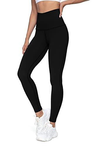 QUEENIEKE Leggings de Yoga à Taille Haute Pantalons Collants de Course Entraînement pour Femmes Couleur Noir Taille S
