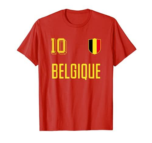 Maillot de football rétro Belgique Crest Belge Belgique T-Shirt