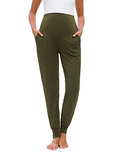 Love2Mi Pantalon de loisir pour femmes enceintes - Legging de grossesse - Pantalon de jogging...