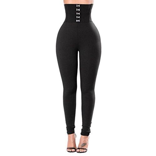 Pantalons de sport Femmes Toamen Pantalon de yoga boutonné Longue section Les hanches Taille haute Pantalon de fitness Yoga Gym Mode pantalons de survêtement (M, Noir) prix et achat
