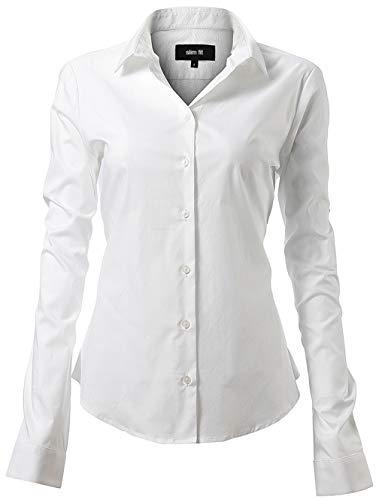 Harrms Chemises Femme Business Élastique, Design Classique Parfait pour Le...