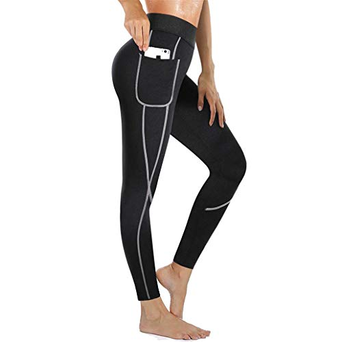 Chumian Pantalon de Sudation Femme Legging Minceur Néoprène Transpiration Sauna Pants pour...