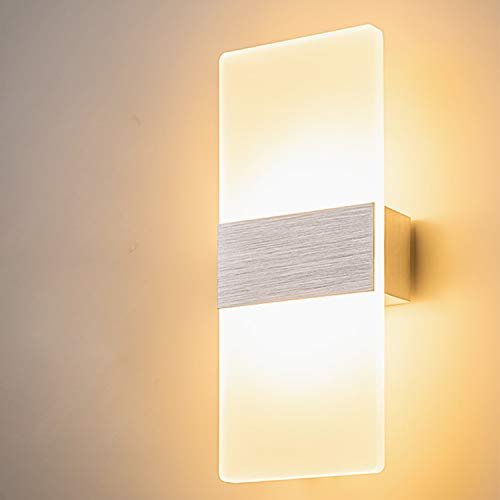 Yafido Applique Murale Interieur LED 12W Lampe Murale Verre...