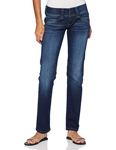 Pepe Jeans Venus Jean Droit - Femme - Bleu (Powerflex Dark Used 000) - Taille unique (Taille fabricant:W31/L32) prix et achat