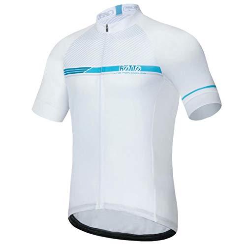 ROTTO Maillot Cyclisme Homme Vetement Cycliste pour VTT vélos de Route Série Simple Line