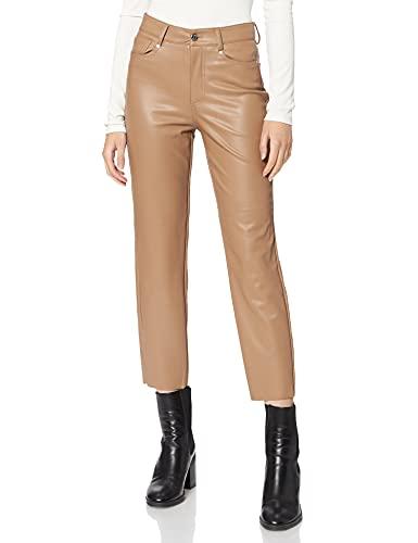 Only Onlemily Hw St Ank Faux Leather PNT Noos Pantalons, Sable, M Femme prix et achat