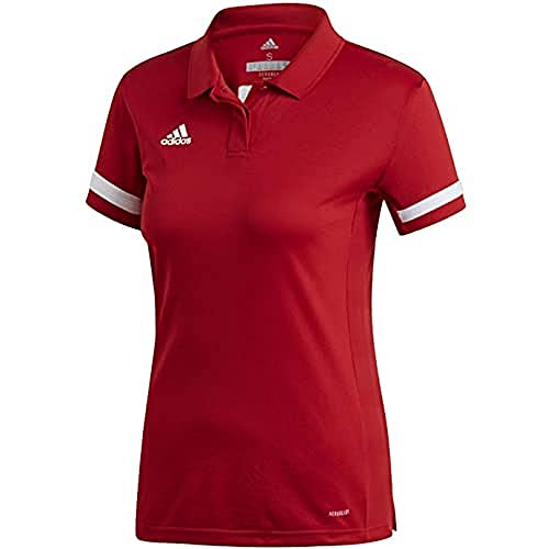 adidas Team19 Polo W Polo Femme Power Red/White FR: M (Taille Fabricant: M)