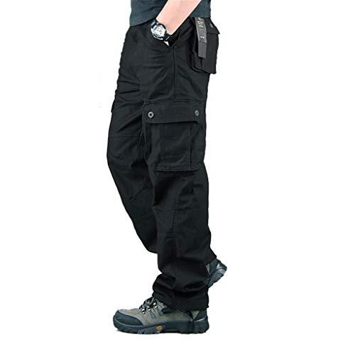 Hommes Pantalon Cargo Pantalon de Travail Style Militaire, Casual Pantalon Multi Poche Cargo...