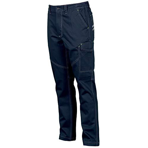 Smart workwear Pantalon de Travail à Rayures réfléchissantes (M, Bleu Marin)
