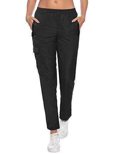 Pantalon de Pluie Femme Homme Pantalon imperméable Étanche Coupe-Vent Résistant Respirant...