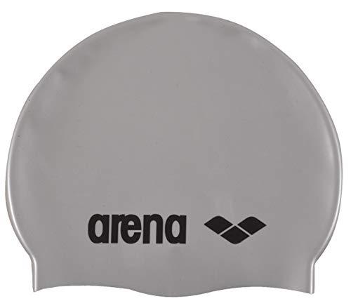 Arena Classic Silicone Swimming Cap - Silver / Black