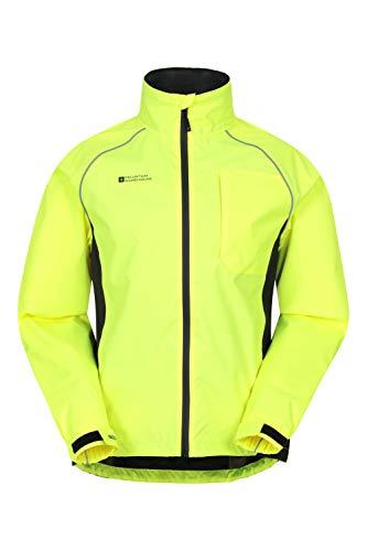 Mountain Warehouse Veste Imperméable Cyclisme Adrenaline Homme - Manteau Pluie Respirant Unisexe - pour Plein-air, Running et Marche Jaune M