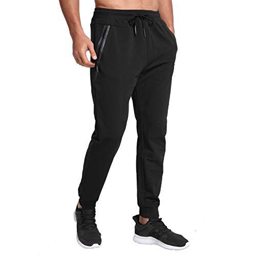 JustSun Jogging Homme Survetement Pantalons de Sport Homme Training Sportswear Bas Jogging Coton Running Jogger Pant Noir L prix et achat