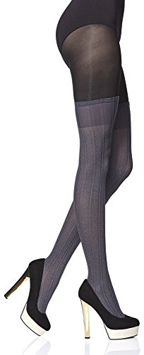 Merry Style Collant Fantaisie à Motif Lingerie Sexy Sous-vêtements Femme Milley 50 DEN (Chocco, S)