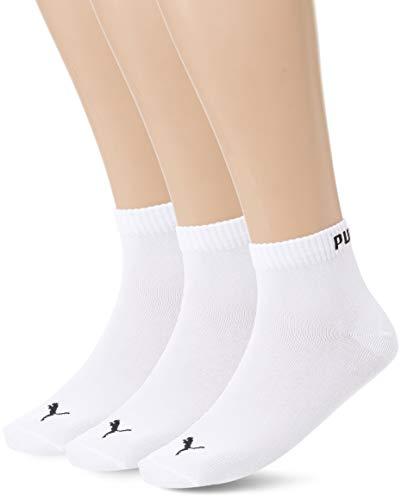 PUMA QUARTER PLAIN 3P Chaussettes de sport Homme Blanc (White 300) 39/42 (Taille fabricant:039) 3lot de3