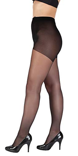 Giulia Collants 20 40 DEN pour femme Grande taille - Noir - XXX-Large prix et achat