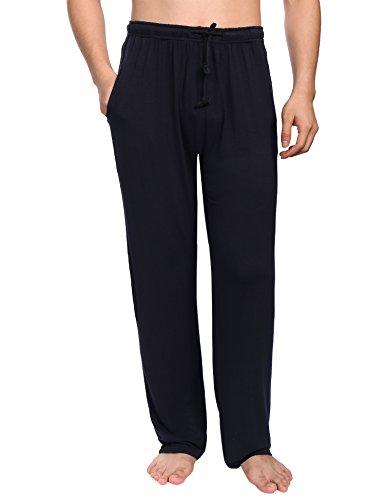 Aibrou Pantalon Bas de Pyjama Homme Vêtements de Nuit Pantalon de pyjama Homme pour tous les...