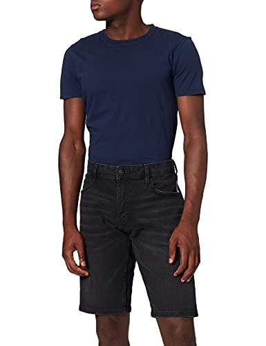 edc by Esprit 991CC2C302 Shorts en Jean, 911/BLACK Dark Wash, 33 Homme