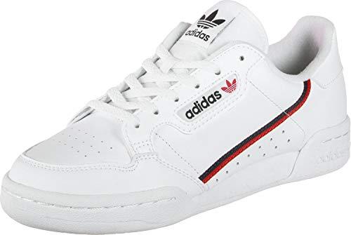 adidas Continental 80 J, Chaussures de Fitness, Cloud White/Scarlet/Collegiate Navy, 38 EU