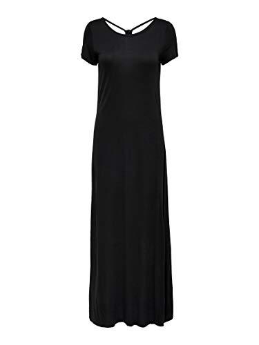 Only ONLCARRIE S/S Dress JRS Robe, Noir, L Femme
