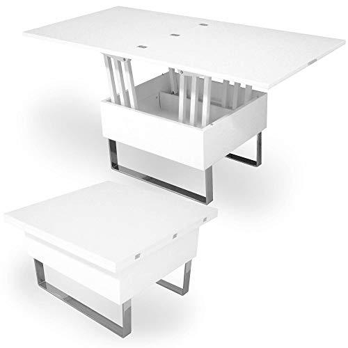 DecoInParis Table Basse relevable Multifonction Woods laqué...
