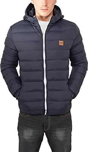 Urban Classics Basic Bubble Jacket Homme, Bleu (Navy/White/Navy 496), L