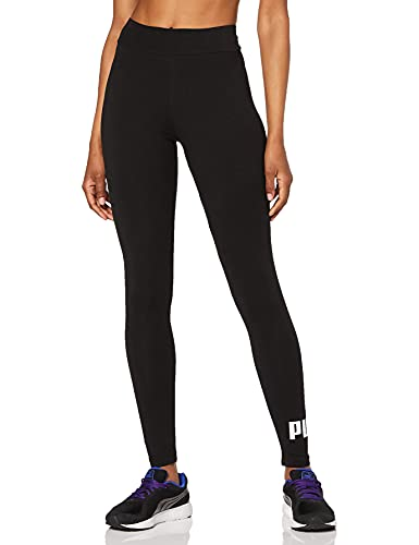 PUMA ESS Logo Leggings Pantalons Femme, Cotton Black, S