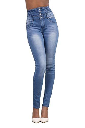 Minetom Pantalons Femme Denim Printemps Jeans Slim Taille Haute Leggings Sexy Collant Crayon...