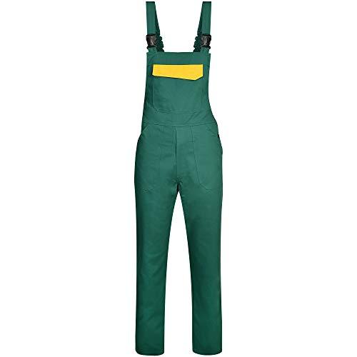 BWOLF ARES Salopette de Travail 100% Coton pour Homme - Vert - Medium