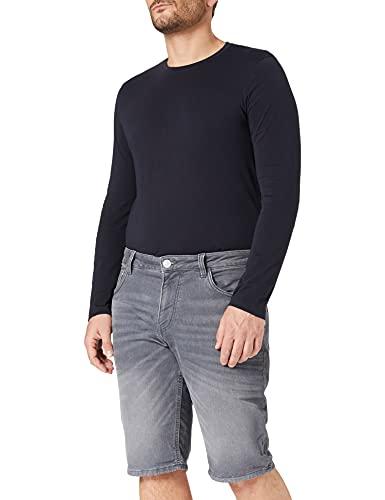 TOM TAILOR 1025085 Josh Denim Bermuda Shorts, 10212-Clean Light Stone Grey, 40 Homme