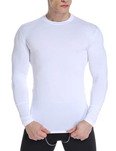 FITTOO T-Shirt Compression Homme Thermique Maillot de Compression à Manches Longues Séchage...