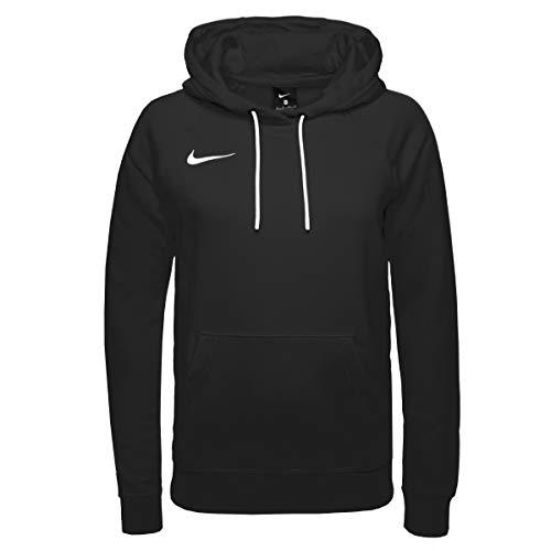 Nike Sweat à Capuche de Football à Manches Longues en Molleton pour Femmes, Taille S, Noir/Blanc/Blanc