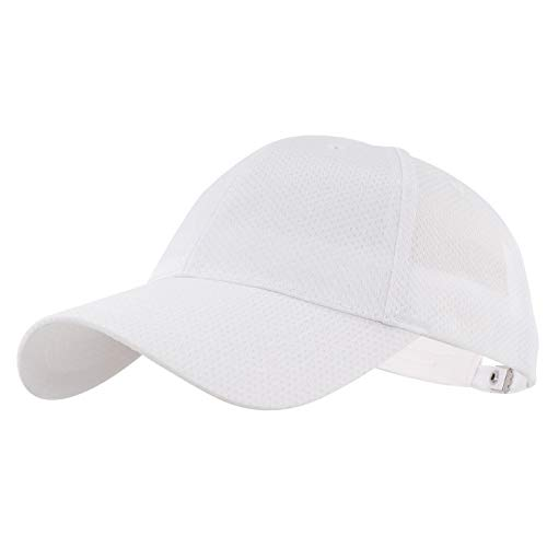 Gisdanchz Casquette Blanche Jogging Homme Casquettes Jogging Femme Sport Blanche Mesh Golf Hats...