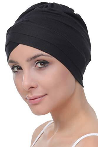 Deresina Headwear W Bonnet en Coton pour Chimio,Noir,Taille unique