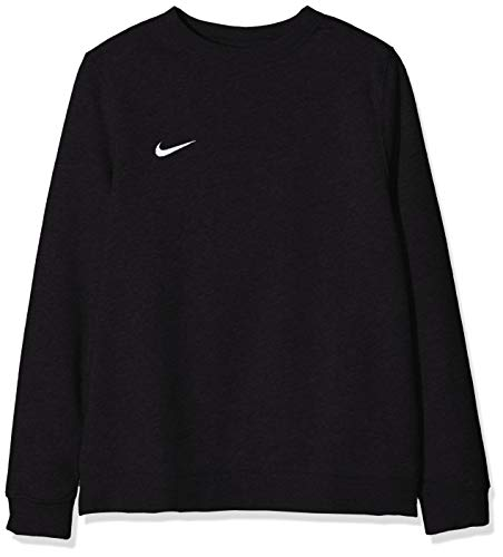 Nike Y CRW FLC TM CLUB19 T-shirt à manches longues Mixte Enfant Noir/Blanc FR : S (Taille Fabricant : S)